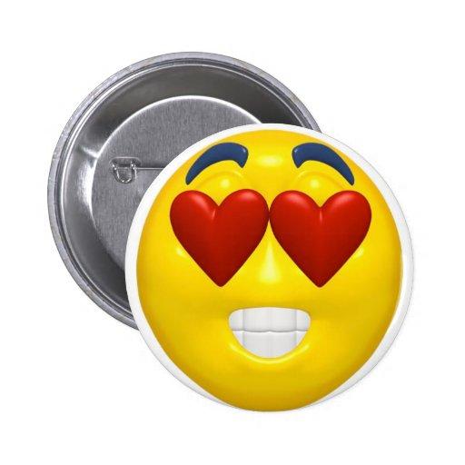 Valentinsgruß-smiley-Knopf Anstecknadel