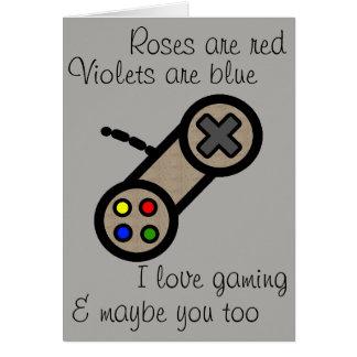 Valentinsgruß: Spiel u. Sie der Liebe I Karte