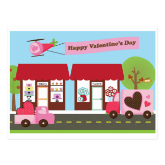 Valentinsgruß-Straßenpostkarte Postkarte