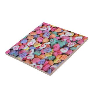 Valentinsgruß-Süßigkeits-Fliese Kleine Quadratische Fliese