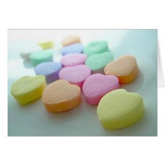 Valentinsgruß-Süßigkeits-Herzen Mitteilungskarte