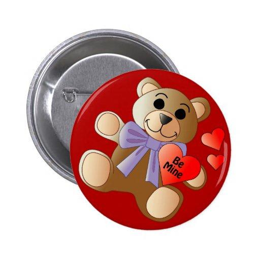Valentinsgruß-Teddybär-Knopf Buttons