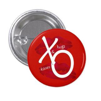 Valentinsgruß-Umarmungs-und Kuss-Kuss-Knopf Buttons