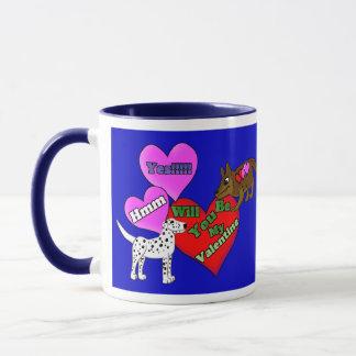 Valentinsgruß-Welpen Tasse