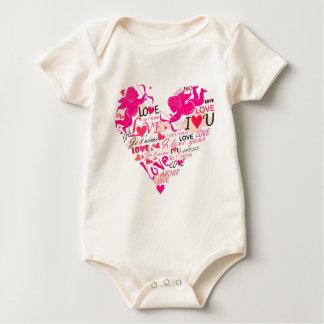 Valentinsgrüße Baby Strampler