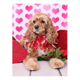 Valentinsgrüße - Cocker spaniel - Bella Postkarte