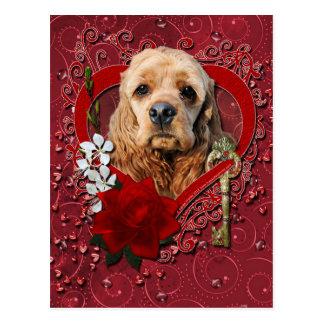 Valentinsgrüße - Schlüssel zu meinem Herzen - Postkarte