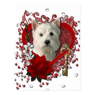 Valentinsgrüße - Schlüssel zu meinem Postkarte