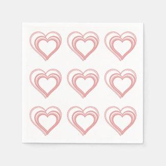 Valentinsgrüße, weißes papierserviette