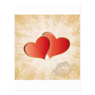 Valentinsgrußherzen Postkarte