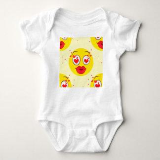 Valentinsgrußkuß Emoji Baby Strampler