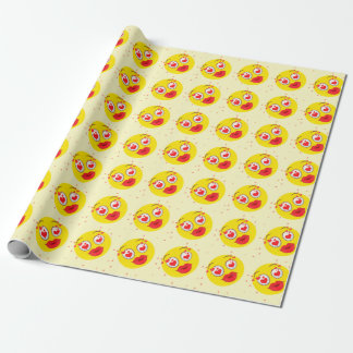 Valentinsgrußkuß Emoji Geschenkpapier