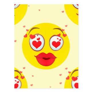 Valentinsgrußkuß Emoji Postkarte