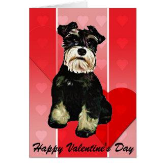 Valentinsgrußschnauzer-Hundekarte Grußkarte