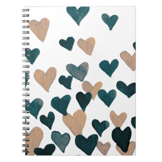 Valentinstag-Aquarell-Herzen - neutrale Person Notizblock