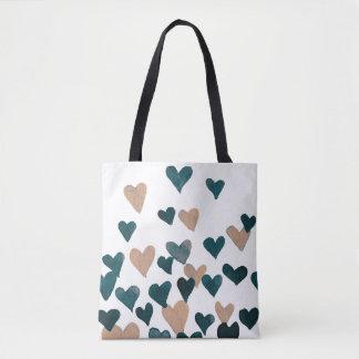 Valentinstag-Aquarell-Herzen - neutrale Person Tasche