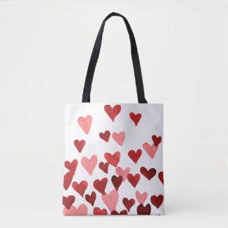 Valentinstag-Aquarell-Herzen - redCute waterc Tasche