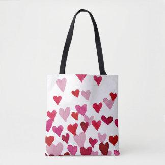 Valentinstag-Aquarell-Herzen - Rosa Tasche