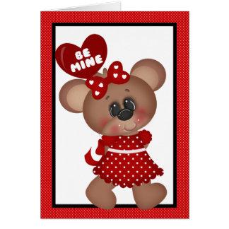 Valentinstag-Bärn-Gruß-Karte Karte