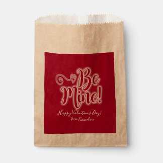 Valentinstag-Bevorzugungs-Taschen-Rot ist Geschenktütchen