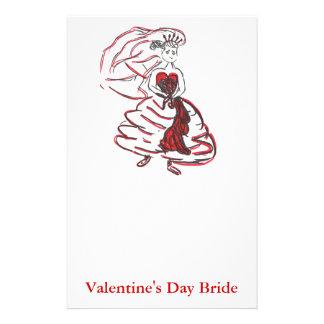 Valentinstag-Braut Briefpapier