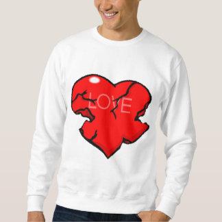 Valentinstag-defektes Herz Sweatshirt