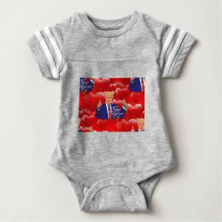 Valentinstag Donald Trump Baby Strampler