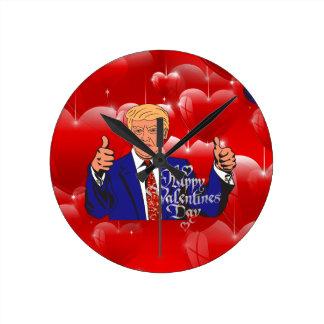 Valentinstag Donald Trump Runde Wanduhr