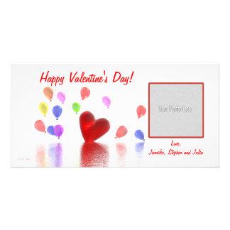 Valentinstag-Feier Personalisierte Photo Karte