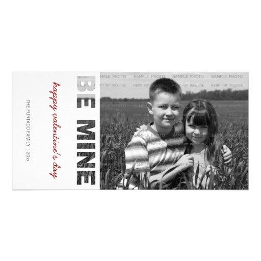 Valentinstag-Foto ist meins weißes personalisierte Bilder Karten