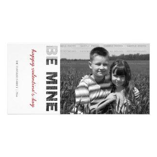 Valentinstag-Foto ist meins weißes personalisierte Bilderkarten