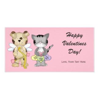 Valentinstag-Foto-Karte Photokarte