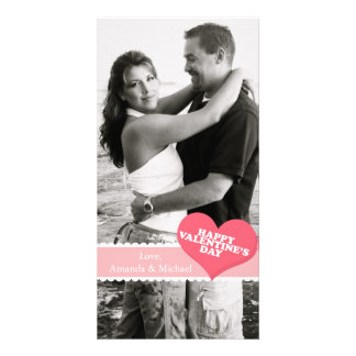 Valentinstag Individuelle Foto Karten