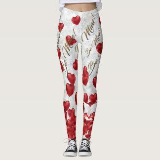 Valentinstag-Gamaschen Leggings