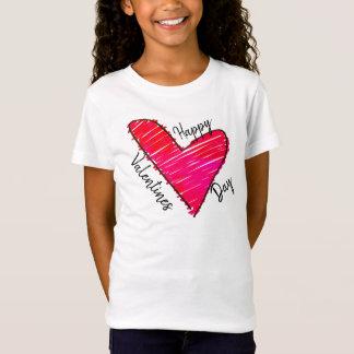 Valentinstag-Gekritzel T-Shirt