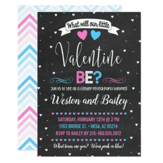 Valentinstag-Geschlecht decken Einladung auf