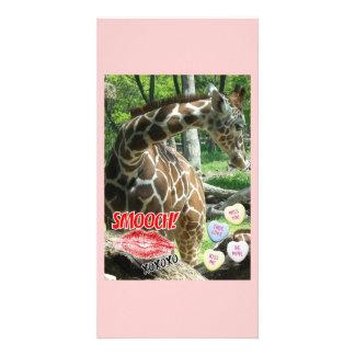 Valentinstag-Giraffe Fotogrußkarten