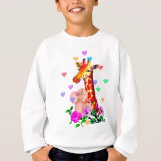 Valentinstag-Giraffe Sweatshirt
