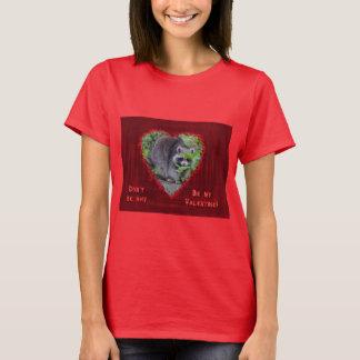 Valentinstag-Gruß - schüchterner Waschbär T-Shirt