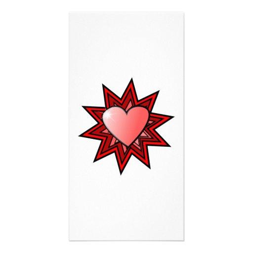 Valentinstag-Herz Bild Karte