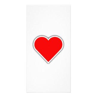 Valentinstag-Herz Fotokarte