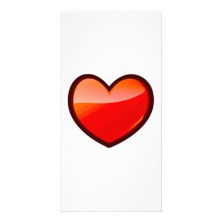 Valentinstag-Herz Personalisierte Photo Karte