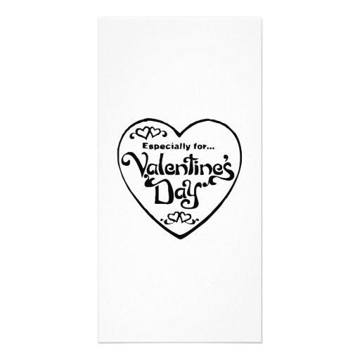 Valentinstag-Herz Fotokartenvorlagen