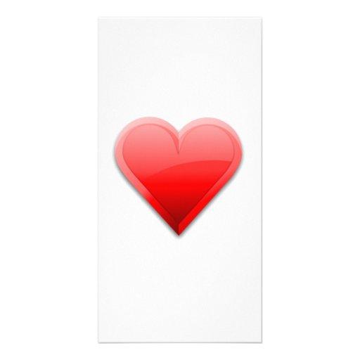 Valentinstag-Herz Personalisierte Foto Karte