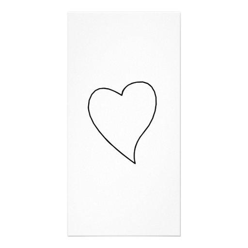 Valentinstag-Herz Foto Karten Vorlage