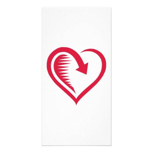 Valentinstag-Herz Photokartenvorlage