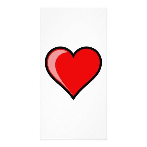 Valentinstag-Herz Photogrußkarten