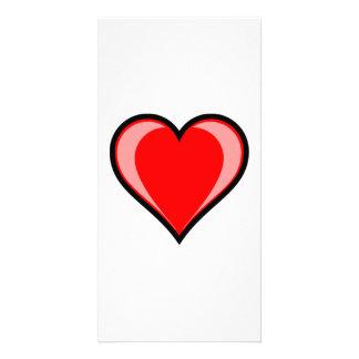 Valentinstag-Herz Photo Karte