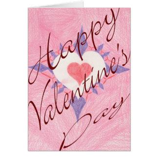Valentinstag-Herz Karte