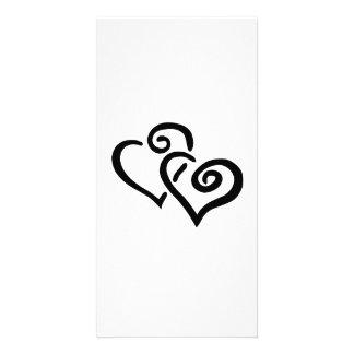 Valentinstag-Herzen Foto Karten Vorlage